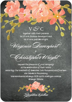 Click Here To See This Beautiful Chalkboard Wedding Invite
